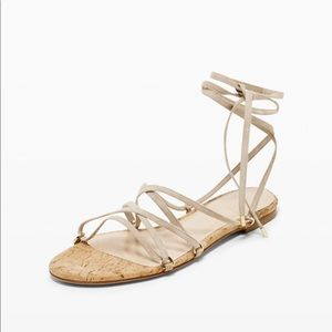 Club Monaco Leary Lace-Up cream Greek style Sandal